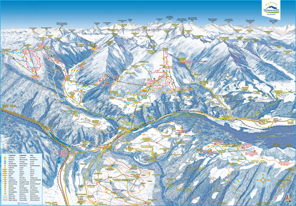 Winter map Holiday region Gitschberg Jochtal