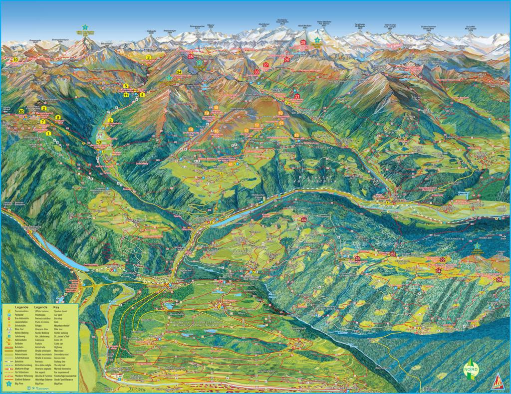 Map Holiday region Gitschberg Jochtal | Eisacktal Valley
